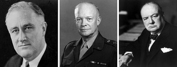 Roosevelt, Eisenhower and Churchill